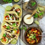 JACKFRUIT FAJITAS with Black Bean Spread, Salsa & Cashew Sour Cream