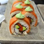 Veggie Salmon Sushi Roll