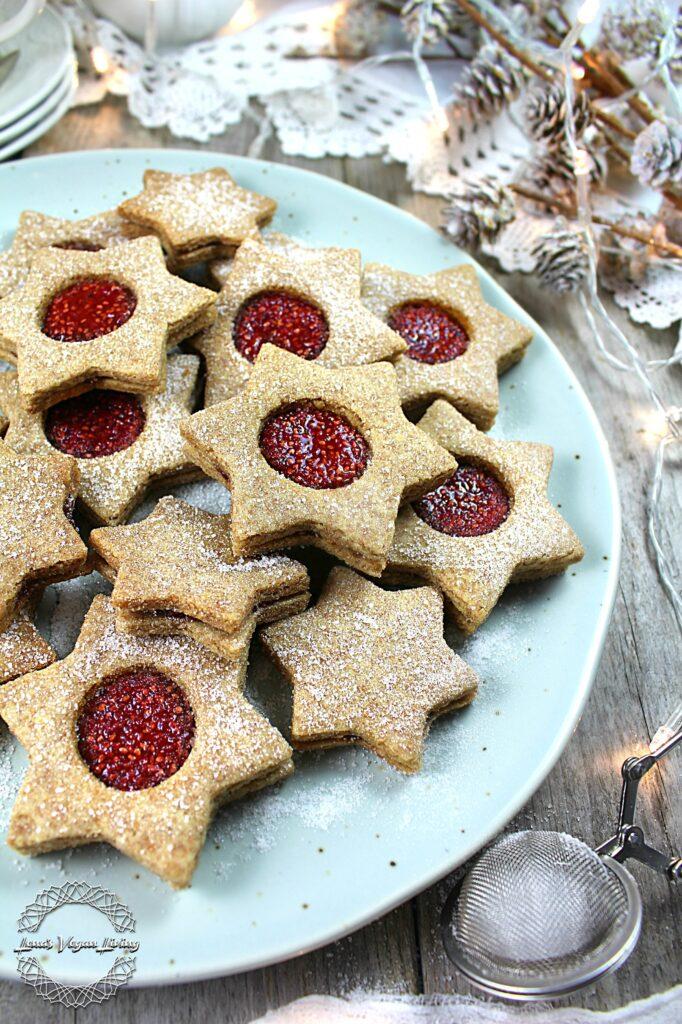 Spelt Linzer Cookies