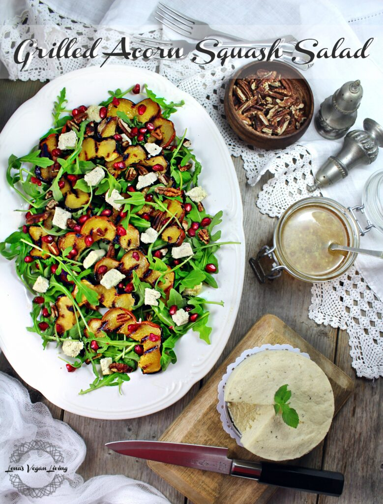 Grilled Acorn Squash Salad with Baby Arugula